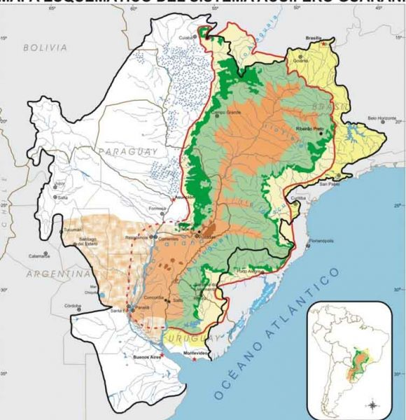 Mapa Reservas Acuíferas